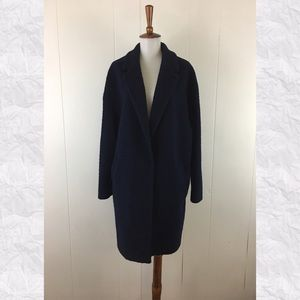 Boden Tilly Long Sleeve Navy Cocoon Coat